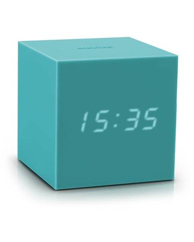 Tyrkysovomodrý LED budík Gingko Gravitry Cube
