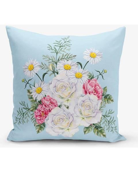 Minimalist Cushion Covers Obliečka na vankúš s prímesou bavlny Minimalist Cushion Covers Flowerita, 45×45 cm