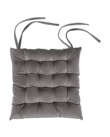 Tmavosivý vankúš na sedenie Tiseco Home Studio Chairy, 37 x 37 cm