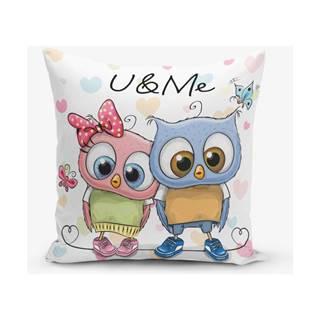 Obliečka na vaknúš s prímesou bavlny Minimalist Cushion Covers Hearts Colorful, 45×45 cm