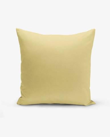 Horčicovožltá obliečka na vankúš Minimalist Cushion Covers Düz, 45 × 45 cm
