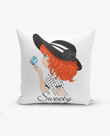 Obliečka na vankúš s prímesou bavlny Minimalist Cushion Covers Sweety Girl, 45×45 cm
