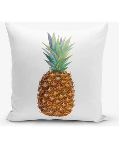 Obliečka na vankúš s prímesou bavlny s motívom ananasu Minimalist Cushion Covers Pine, 45×45 cm