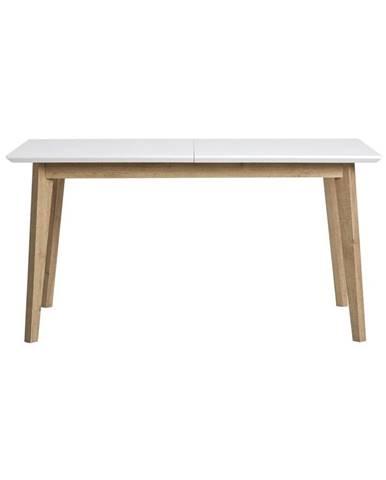 Rozkladací jedálenský stôl s bielou doskou Marckeric Libra