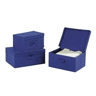 Modrý úložný box Wenko Ocean, dĺžka34cm