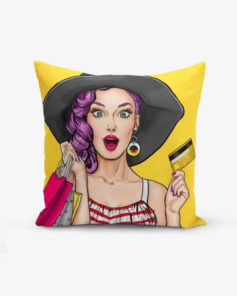 Minimalist Cushion Covers Obliečka na vankúš s prímesou bavlny Minimalist Cushion Covers Pop Art Women, 45×45 cm