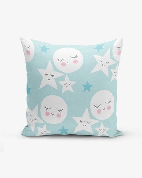 Minimalist Cushion Covers Obliečka na vankúš s prímesou bavlny Minimalist Cushion Covers With Points Moon Star, 45×45 cm