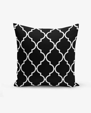 Čierno-biela obliečka na vankúš s bavlnou Minimalist Cushion Covers Black Background Ogea, 45×45 cm