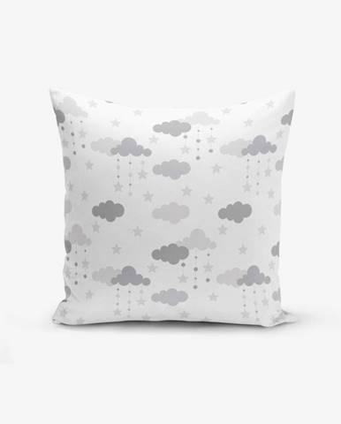 Obliečka na vankúš s prímesou bavlny Minimalist Cushion Covers Grey Clouds, 45×45 cm