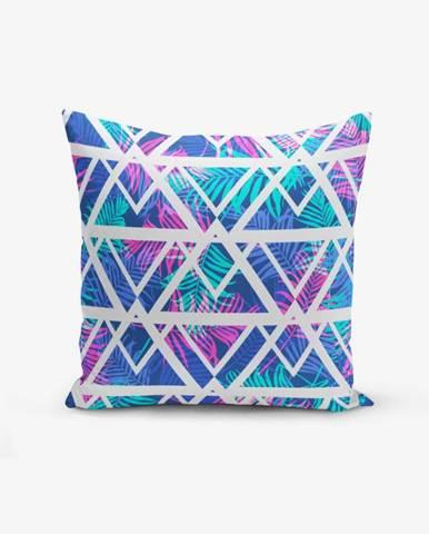 Obliečka na vankúš s prímesou bavlny Minimalist Cushion Covers Palm Zigzag, 45×45 cm