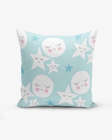 Obliečka na vankúš s prímesou bavlny Minimalist Cushion Covers With Points Moon Star, 45×45 cm