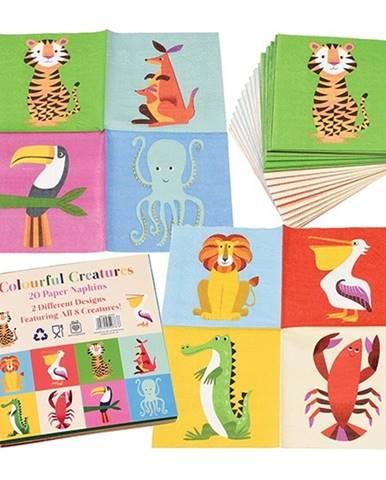 Sada 20 obrúskov Rex London Colourful Creatures