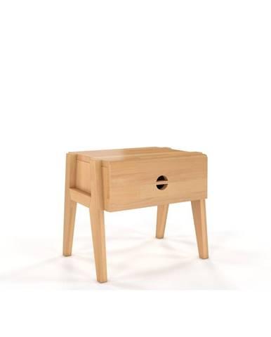 Nočný stolík z bukového dreva so zásuvkou Skandica Visby Radom