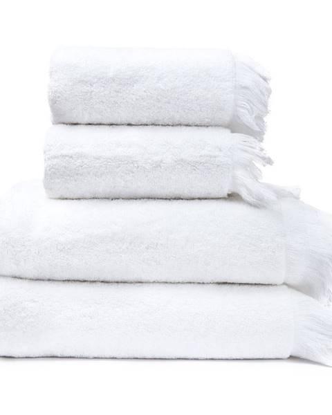 Bonami Sada 2 bielych uterákov a 2 osušiek zo 100% bavlny Bonami, 50 × 90 + 70 × 140 cm