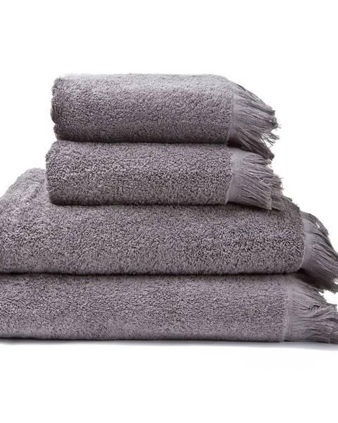 Bonami Sada 2 sivých uterákov a 2 osušiek zo 100% bavlny Bonami, 50 × 90 + 70 × 140 cm