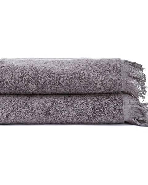 Bonami Súprava 2 sivých uterákov zo 100% bavlny Bonami, 50 × 90 cm