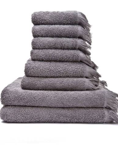 Súprava 6 sivohnedých uterákov a 2 osušiek zo 100% bavlny Bonami