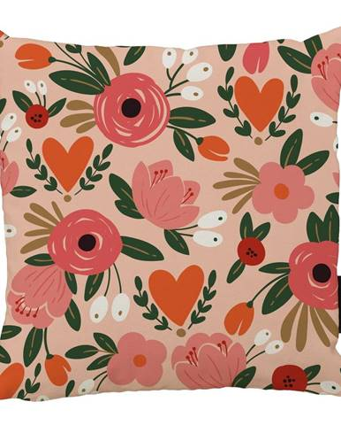 Vankúš Butter Kings z bavlny Love Flowers, 45 x 45 cm