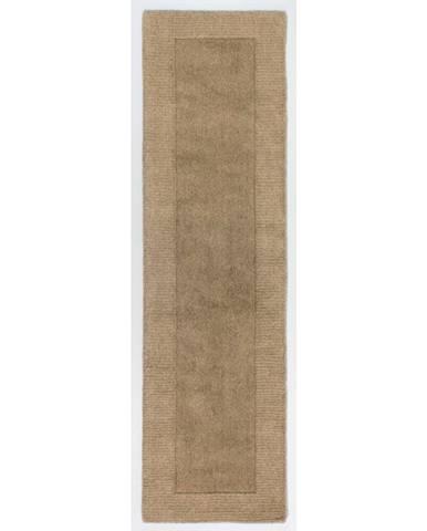 Hnedý vlnený behúň Flair Rugs Sienna, 60×230 cm