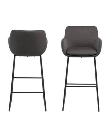 Čierna barová stolička Actona Lisa