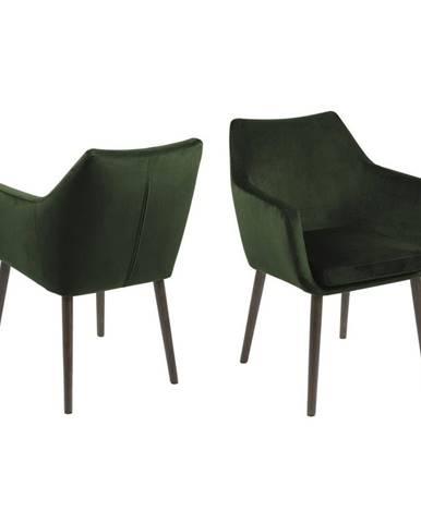 Zelená jedálenská stolička Actona Nora