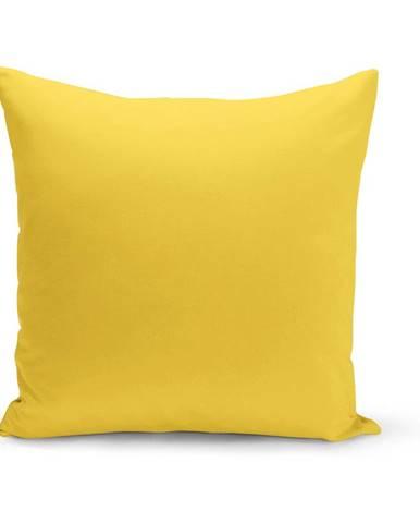 Žltý vankúš s výplňou Lisa, 43×43 cm