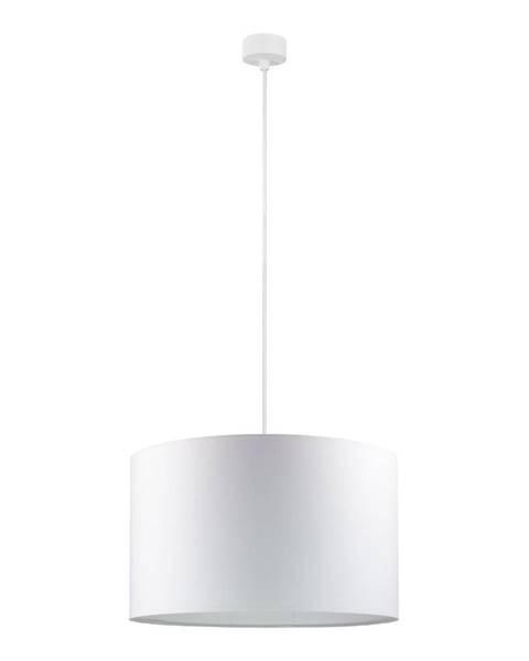 Sotto Luce Biele stropné svietidlo s bielym káblom Sotto Luce Mika, ∅ 40 cm