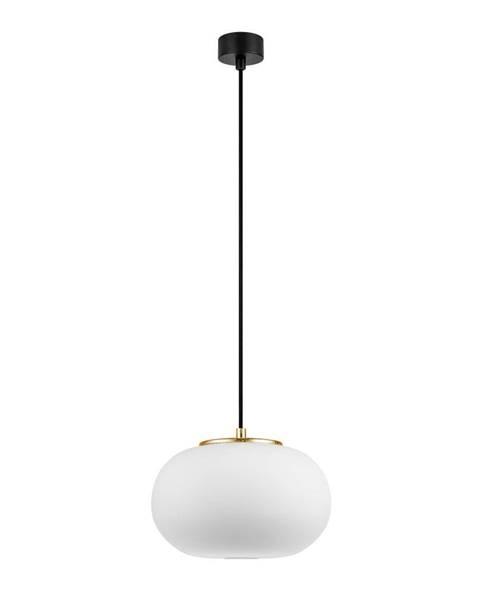 Sotto Luce Biele závesné svietidlo s objímkou v zlatej farbe Sotto Luce dose