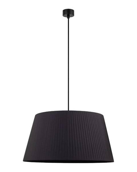 Sotto Luce Čierne stropné svietidlo s čiernym káblom Sotto Luce Kami, ∅ 54 cm