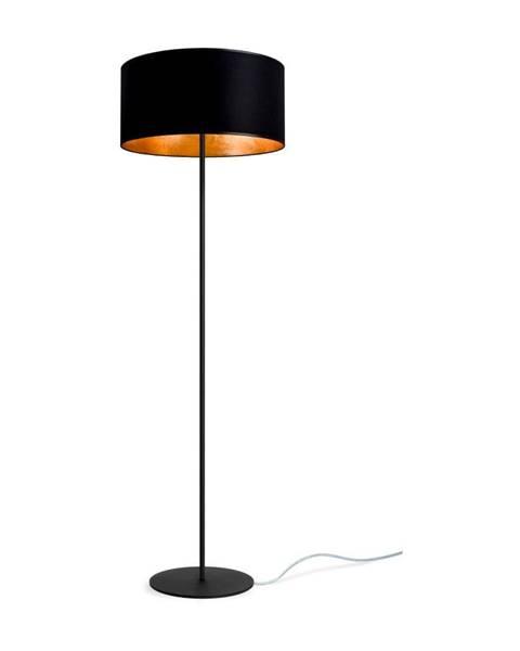 Sotto Luce Čierno-zlatá stojacia lampa Sotto Luce Mika, ⌀ 40 cm