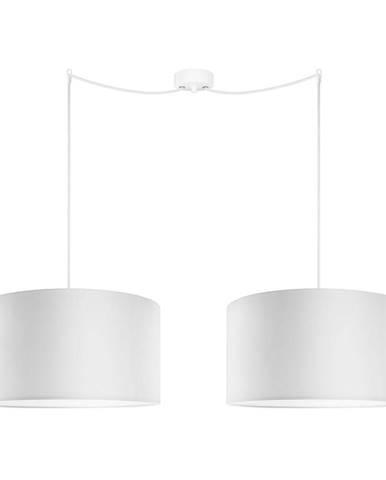 Biele dvojité závesné svietidlo Sotto Luce MIKA