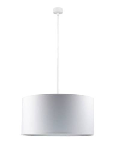 Biele stropné svietidlo s bielym káblom Sotto Luce Mika, ∅50 cm