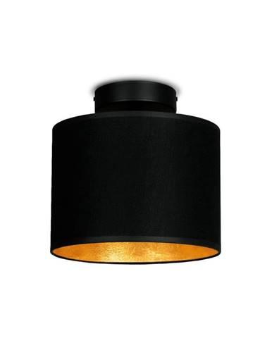 Čierne stropné svietidlo s detailom v zlatej farbe Sotto Luce MIKA Elementary XS CP