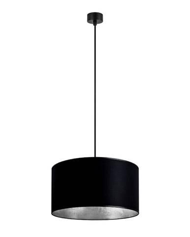 Čierne závesné svietidlo s vnútrom v striebornej farbe Sotto Luce Mika, ∅ 36 cm