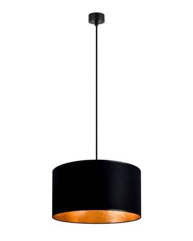 Čierne stropné svietidlo s vnútrom v zlatej farbe Sotto Luce Mika, ∅ 36 cm