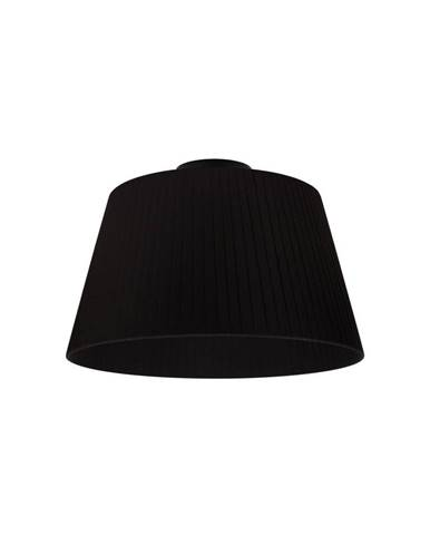 Čierne stropné svietidlo Sotto Luce KAMI CP, Ø36 cm