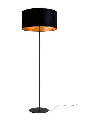Čierno-zlatá stojacia lampa Sotto Luce MIKA Elementary Xl 1F