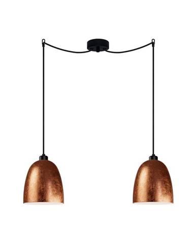 Dvojité stropné svietidlo v medenej farbe Sotto Luce AWA Elementary 2S