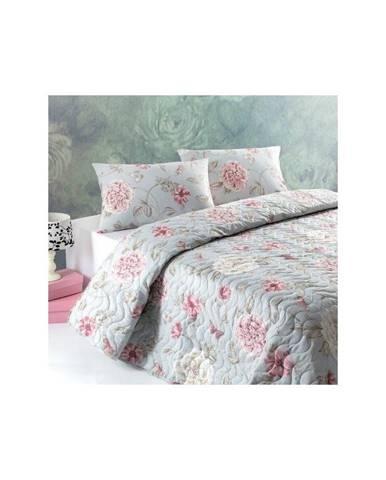 Pléd cez posteľ na dvojlôžko s obliečkami na vankúše Santos, 200×220cm