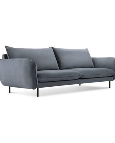 Sivá zamatová pohovka Cosmopolitan Design Vienna, 230 cm