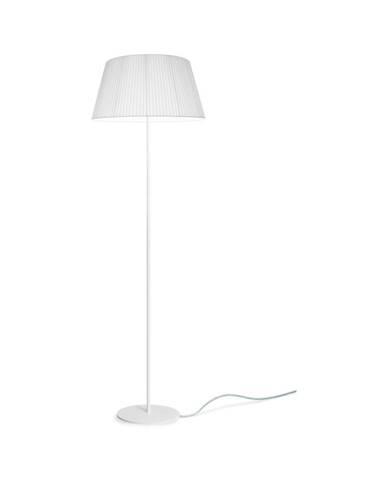 Biela stojacia lampa Sotto Luce Kami, Ø 45 cm