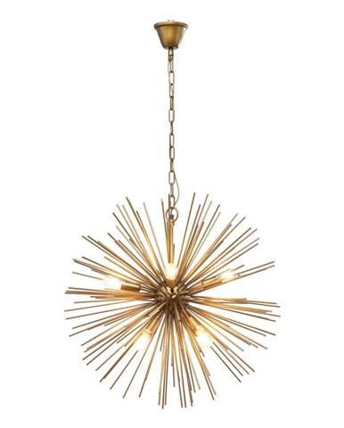 Stropné svietidlo v mosadznej farbe Kare Design Beam