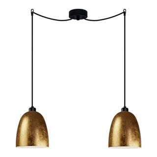 Dvojramenné závesné svietidlo v zlatej farbe Sotto Luce AWA Elementary 2S