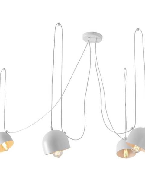 Custom Form Biele závesné svietidlo na 4 žiarovky Custom Form Popo