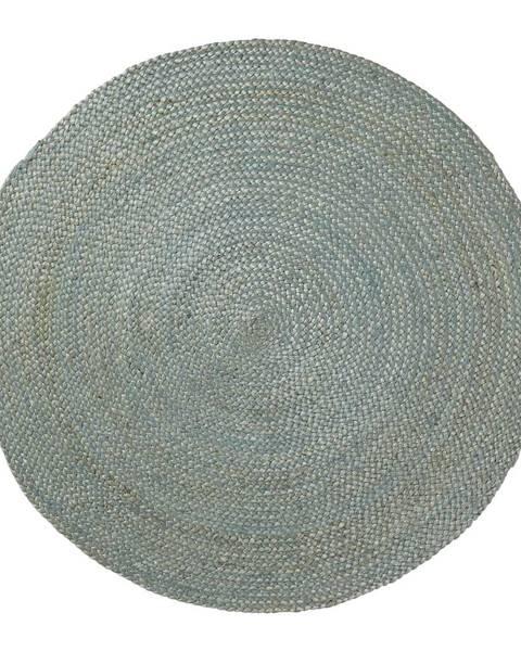 La Forma Modrý jutový koberec La Forma Dip, ⌀100cm