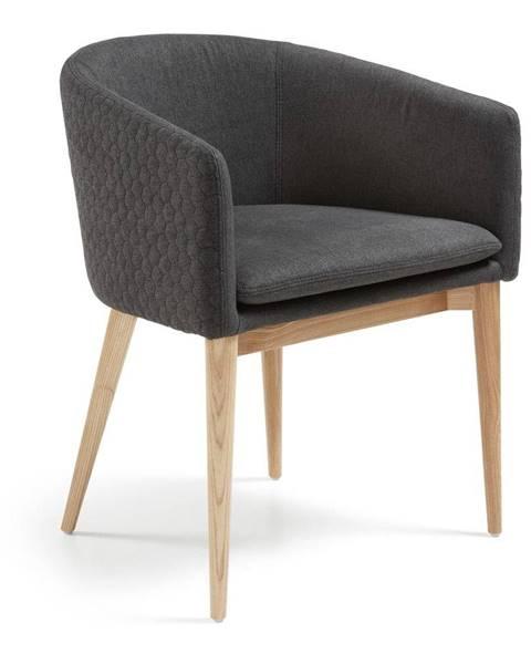 La Forma Tmavosivá jedálenská stolička La Forma Harmon