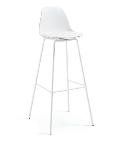 Biela barová stolička La Forma Lysna