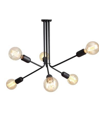 Čierne závesné svietidlo na 6 žiaroviek Custom Form Vanwerk Duo