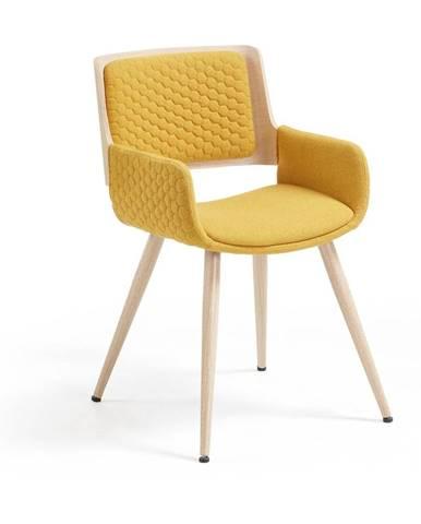 Horčicovožltá stolička La Forma Andre
