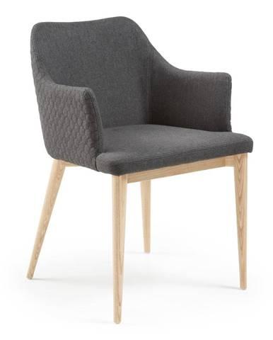 Tmavosivá jedálenská stolička La Forma Danai
